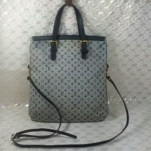 Auth Louis Vuitton Monogram Francoise Blue Bag
